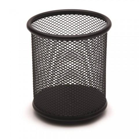 Drt Metal Perfore Silindir Kalemlik -Siyah 3'lü Set