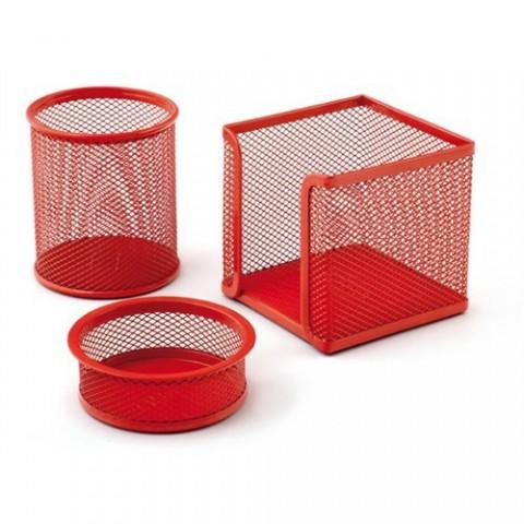 Drt Perfore 3 Lü Kırmızı Metal Masa Üstü Seti