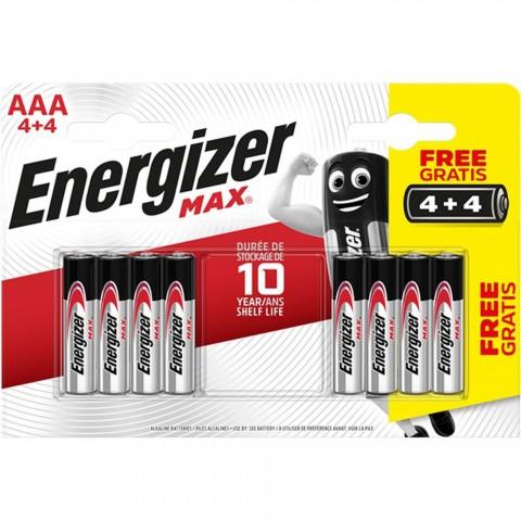 Energizer Max Alkaline AAA İnce Pil 4+4 AAA-LR03