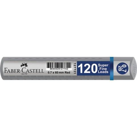 Faber Castell 120'li Kalem Ucu 0,7x60 mm Silver