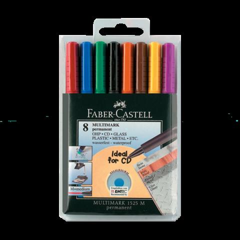 Faber-Castell 152509 Asetat Kalemi M 8 Renk (Cd Kalemi)