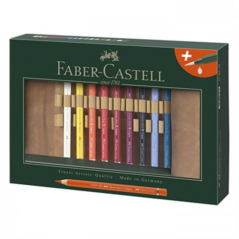 Faber Castell Albrecht Dürer Aquarel Boya Kalemi 18 Renk Deri Kalemlikli Set