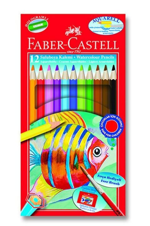 Faber Castell Aquarell Karton Kutu Kuru Sulu Boya