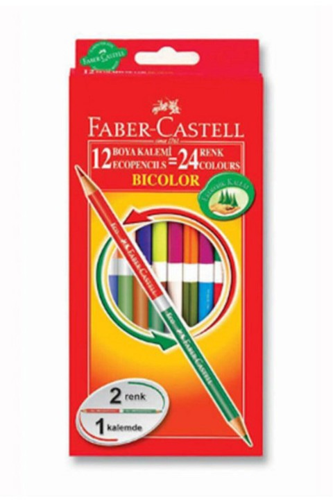 Faber Castell Bicolor Boya Kalemi 24 Renk