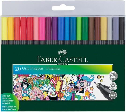 Faber Castell Grip Finepen Ince Uçlu Kalem 0.4 Mm 20 Renk