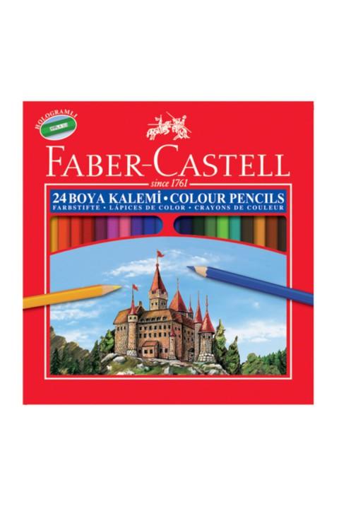 Faber Castell Karton Kutu Kuru Boya Tam Boy 24 Renk