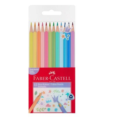 Faber Castell Kuru Boya Kalemi Pastel Renkler 12'li