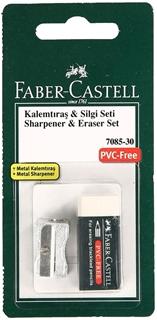 Faber Castell Metal Kalemtraş Ve Silgi Seti