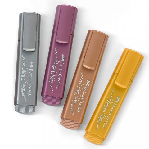 Faber Castell Metalik Renk Fosforlu Kalem Renk Çeşitleri