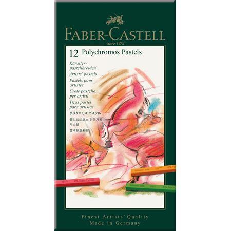 Faber Castell Polychromos Pastel Boya 12 Renk Karton Kutu