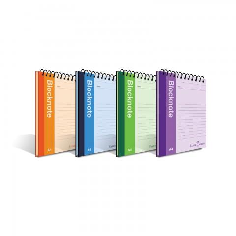 Faber-Castell Renkli Kapak A5 80 Yaprak Çizgisiz Blocknote