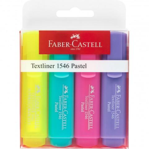 Faber Castell Şeffaf Gövde Pastel Renkler 1546 4 Renk Fosforlu Kalem