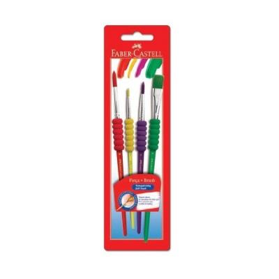 Faber-Castell Soft Touch Fırça Seti 4'lü