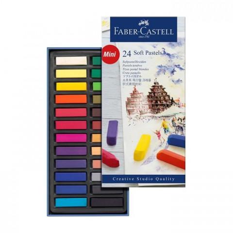 Faber Castell Toz Pastel (Soft) 24 Renk Yarım Boy