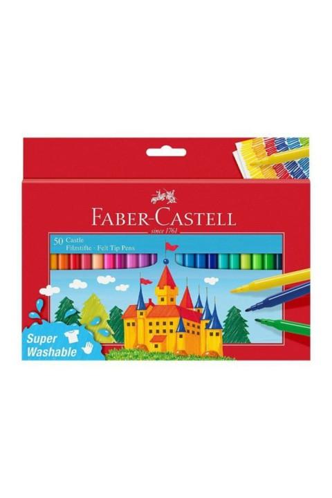 Faber Castell Yıkanabilir Keçeli Kalem 50'li