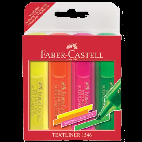 Faber Castell1546 Fosforlu Kalem Şeffaf Gövde 4 Renk