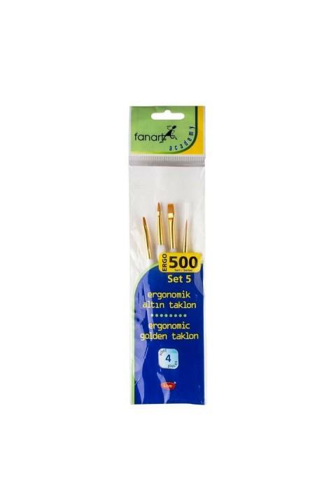 Fanart Academy 500 Seri 4'lü No:5 Fırça Seti
