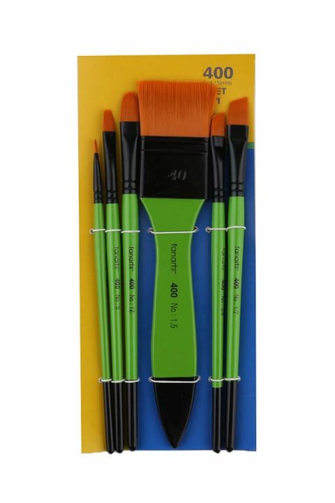 Fanart Academy Seri 400 Fırça Seti No:1 6 lı