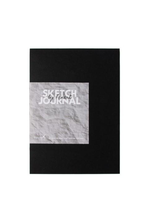 Fanart Sketch Journal A6 Ivory Kağıt Siyah Kapak Eskiz Defteri