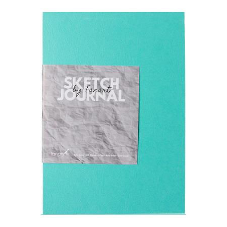 Fanart Sketch Journal A6 Ivory Kağıt Turkuaz Kapak Eskiz Defteri