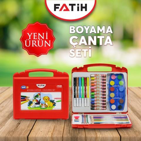 Fatih Boyama Seti Çantalı 47 Parça