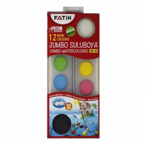 Fatih Jumbo Sulu Boya 12 Renk Js-12