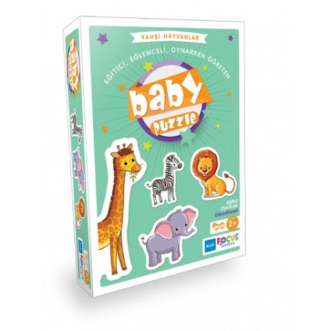 Focus Baby Puzzle Vahşi Hayvanlar