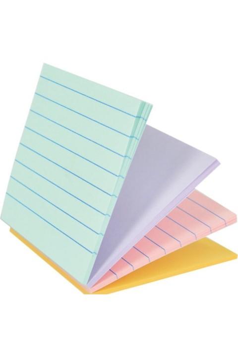 Gıpta 76x76 Magic Çizgili Pastel 4 Renk Yapışkanlı Not Kağıdı