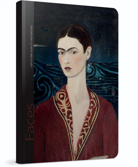 Gıpta Faces Sert Kapak 120 Yaprak Çizgili Defter 13x21 (Frida Kahlo) (5605)