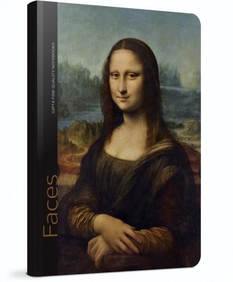 Gıpta Faces Sert Kapak 120 Yaprak Çizgili Defter 13x21 (Leonardo Da Vinci) (5605)