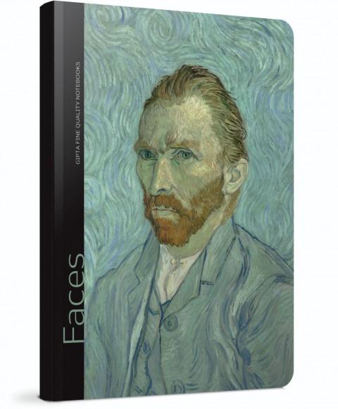 Gıpta Faces Sert Kapak 120 Yaprak Çizgili Defter 13x21 (Vincent Van Gogh) (5605)