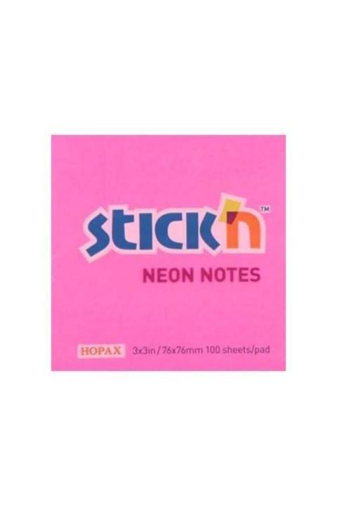 Gıpta Hopax Yapışkanlı Not Kağıdı 76x76 Mm Neon Pembe
