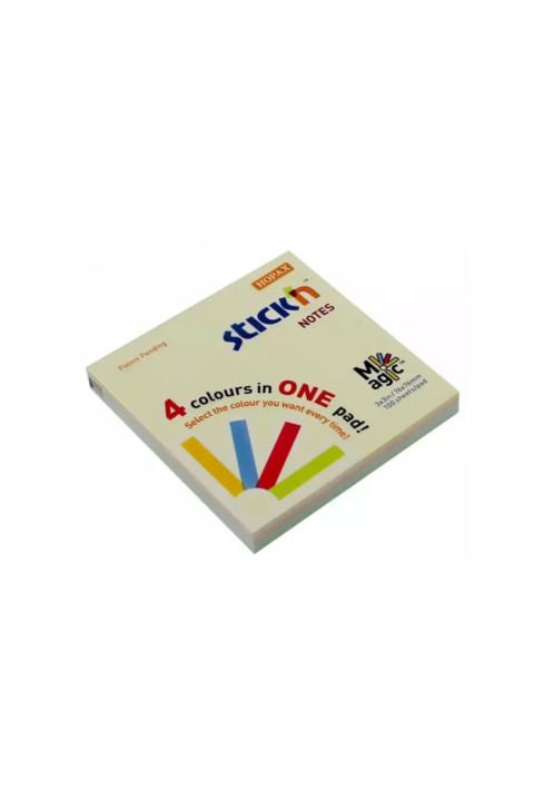 Gıpta Magic 4 Pastel Renk 76x76 100 Yaprak Stickn Yapışkanlı Not Kağıdı