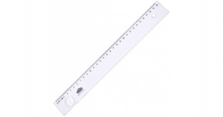HATAS 0131 EKONOMİK ÖĞRENCİ CETVELİ (ŞEFFAF) 30 cm