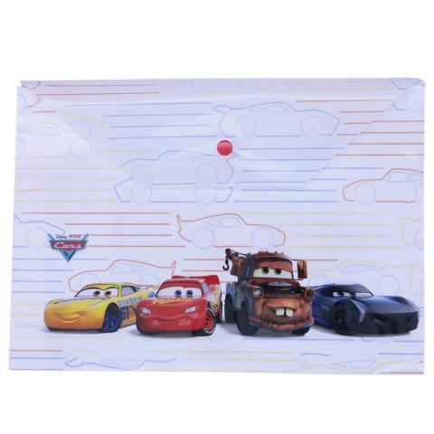 Keskin Color Disney Cars Çıtçıtlı Zarf Dosya A4