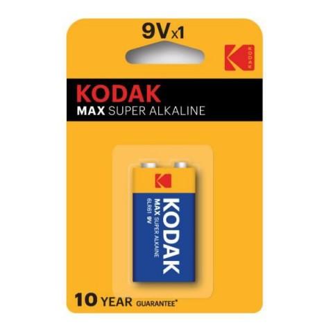 Kodak 1 Adet Max Super Alkalin 9 Volt Pil