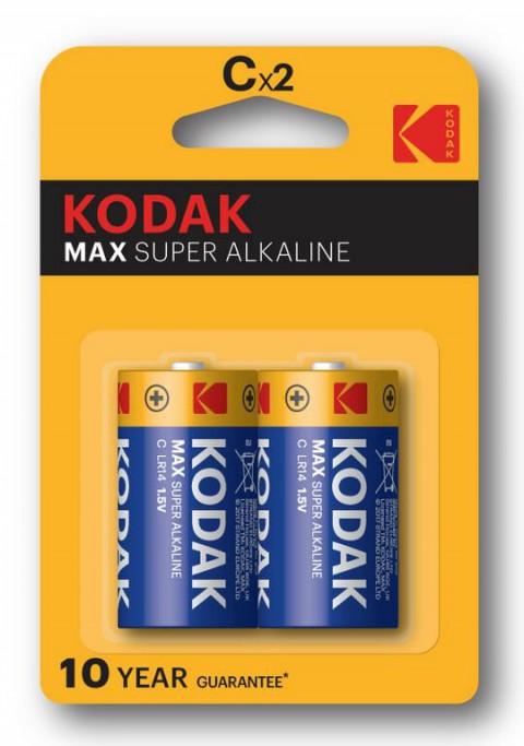 Kodak 2 Adet Max Super Alkalin Orta Pil