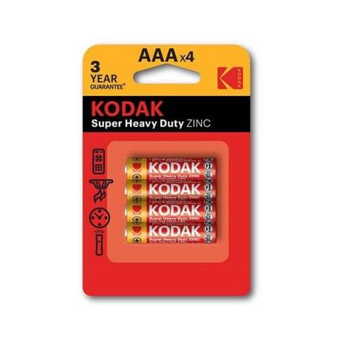Kodak 4 Adet Extra Heavy Duty Çinko Karbon İnce Pil/Blisterli