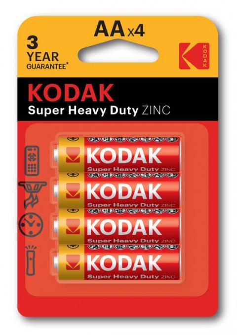 Kodak 4 Adet Extra Heavy Duty Çinko Karbon Kalem Pil/Blisterli