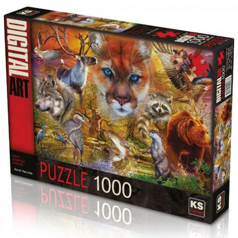Ks Games 1000 Parça Puzzle North American Animals 20567