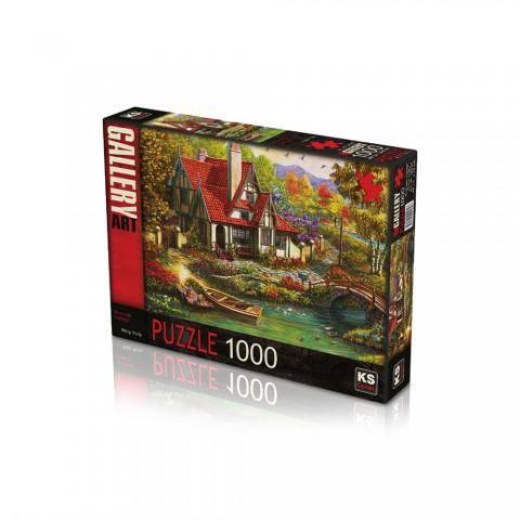 Ks Games 1000 Parça Puzzle Riverside Cottage 20569