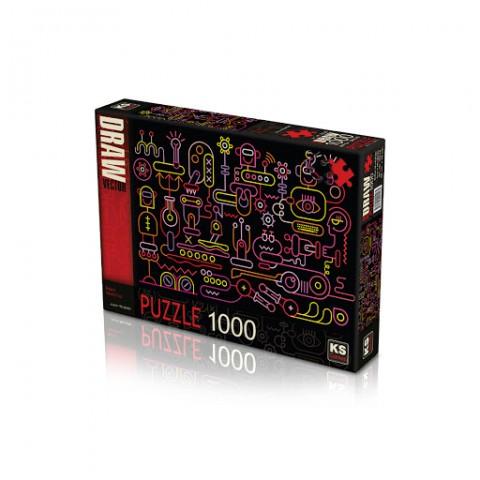 Ks Games 1000 Parça Puzzle Robot Workshop 20518
