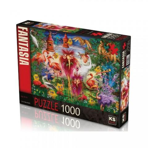 Ks Games 1000 Parça Puzzle Ugly Birds 20538