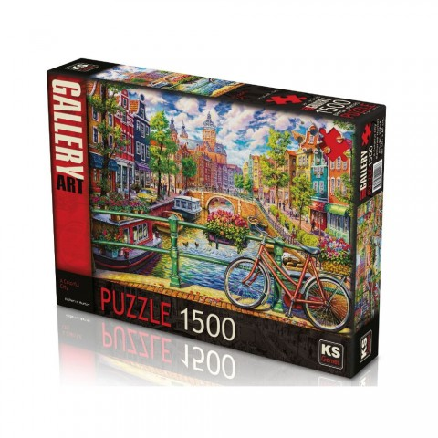 Ks Games 1500 Parça Puzzle A Colorful City 22018