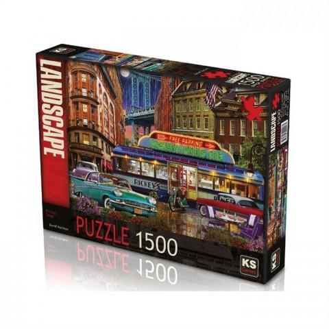 Ks Games 1500 Parça Puzzle Rickey's Diner 22017