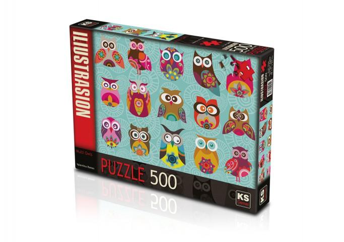 Ks Games 500 Parça Puzzle Multi Owls 20011