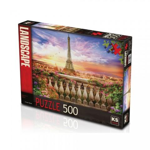 Ks Games 500 Parça Puzzle Sunset in Eiffel 20017