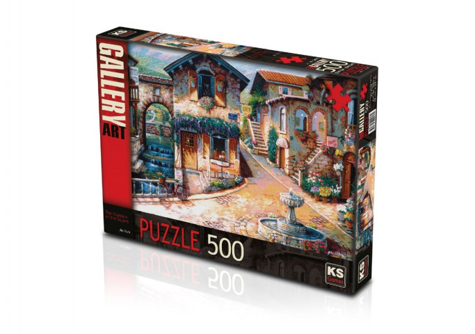 Ks Games 500 Parça Puzzle The Fountain on the Square