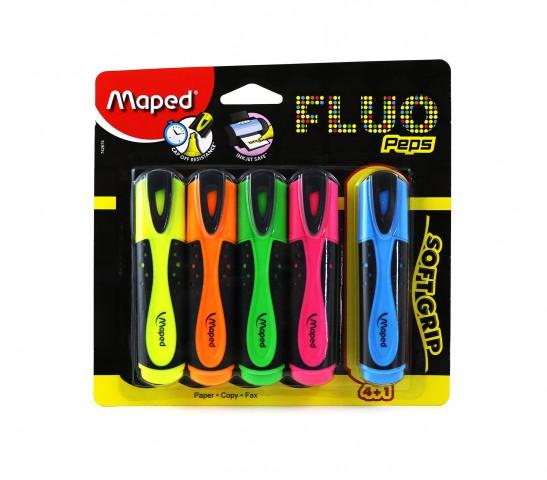 Maped Fluo Peps Fosforlu 4+1 Kalem