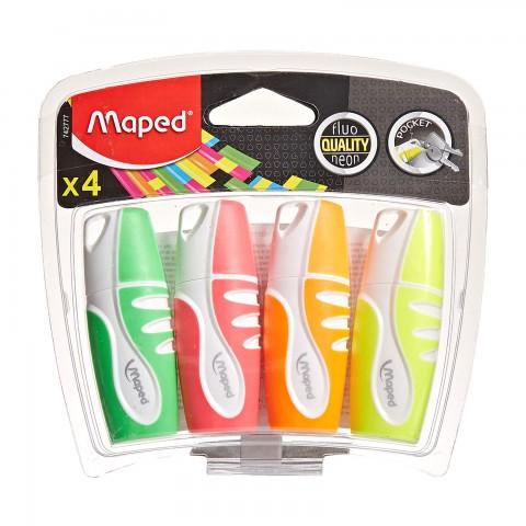Maped Fosforlu Mini 4`lü Karışık Renk Blister
